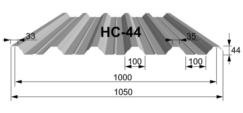 Профнастил Н-44 1050мм